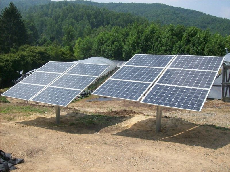 Solarnomics 6 Panel Free Standing Single Pole Mount 1 5kw