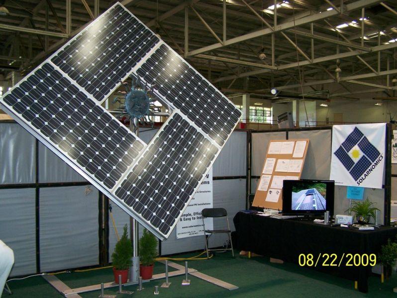 Solarnomics 4 Panel Free Standing Single Pole Mount 1kw